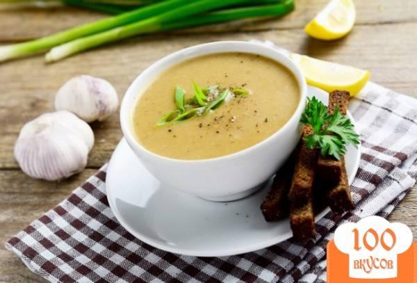 Крем-суп из картофеля и запеченного чеснока