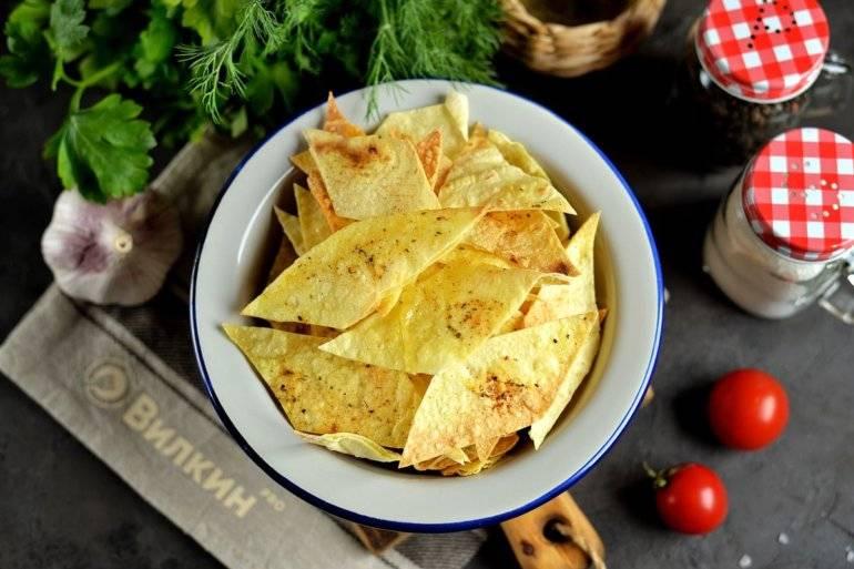 Домашние чипсы из армянского лаваша в духовке — 4 рецепта