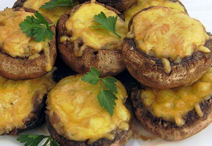 Фаршированные шампиньоны в духовке: 8 пошаговых рецептов приготовления вкусных грибов