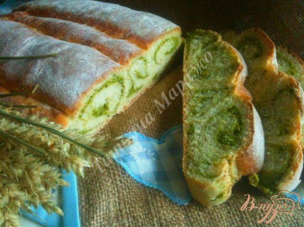 Пшеничный хлеб со шпинатом