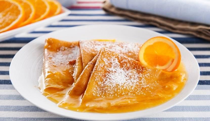 Французские блинчики «Сюзетт» с апельсиновым сиропом