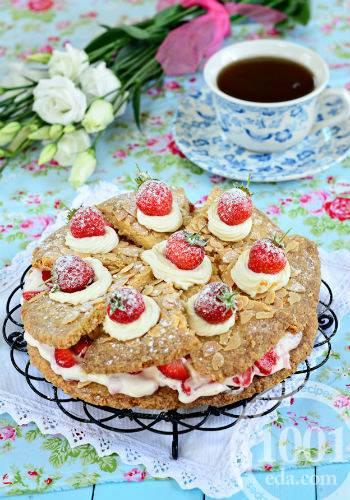 Печенье с клубникой - 6 пошаговых фото в рецепте