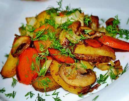 Картофель, запечённый в духовке на соли - 5 пошаговых фото в рецепте