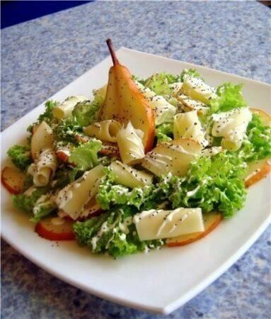 Салат с грушей - 29 домашних вкусных рецептов приготовления