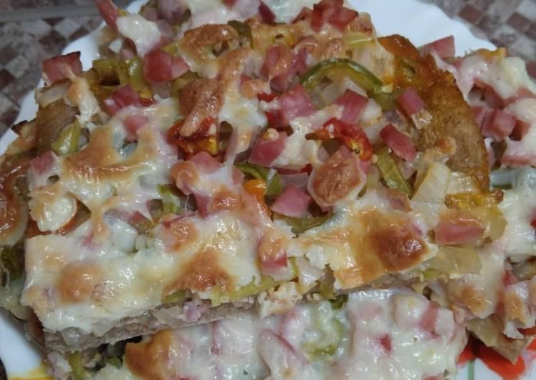 Пицца на пшенично-ржаном тесте