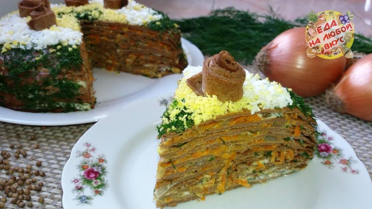 Печеночный торт: рецепт с фото пошагово из говяжьей печени