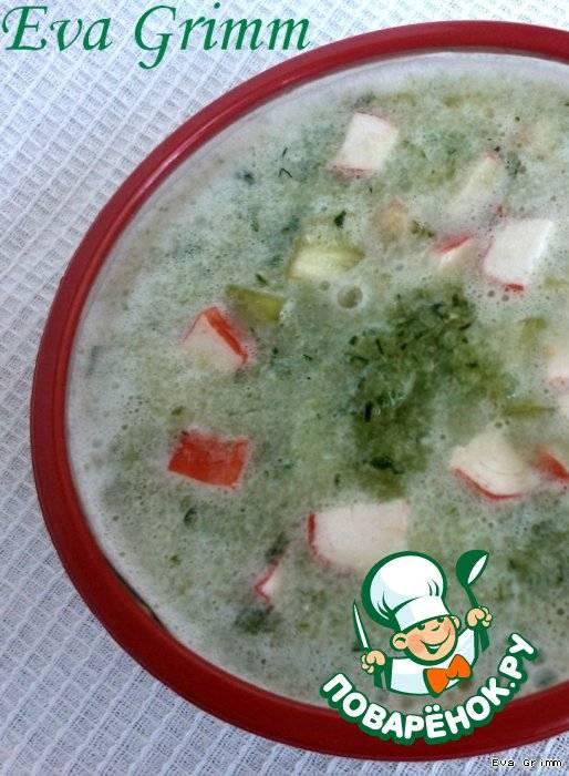 Рецепт холодного огуречного супа с креветками