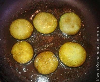 Легкая закуска из баклажан с начинкой из майонеза и чеснока