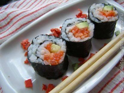 Пп роллы и суши: диетические низкокалорийные рецепты с нори, красной рыбой, цезарь