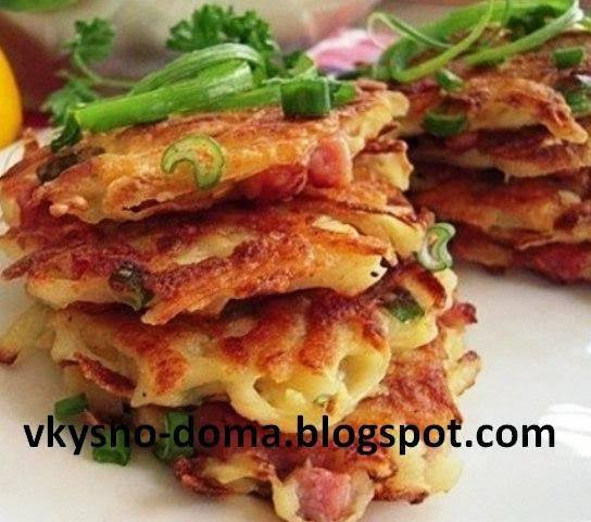 Драники картофельные с сыром и колбасой рецепт пошаговый