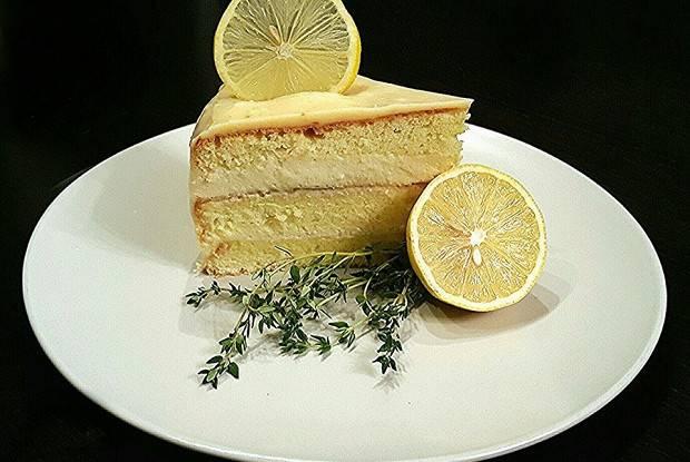 Кофейно-шоколадный торт с лимонным кремом