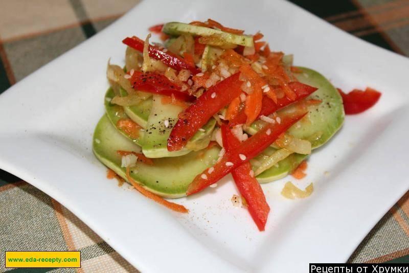 Салат из кабачков по корейски - самые вкусные рецепты пикантной азиатской закуски
