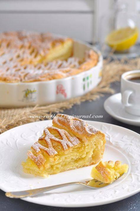 "Лимонный пирог фасон ""крем-брюле"""