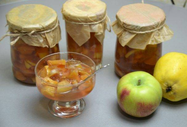 Варенье из айвы и яблок на зиму