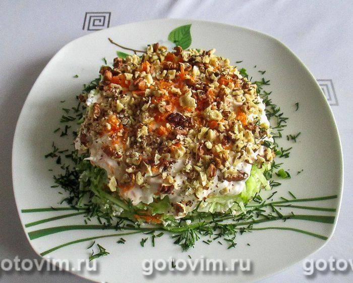 Овощной салат с творогом рецепт с фото