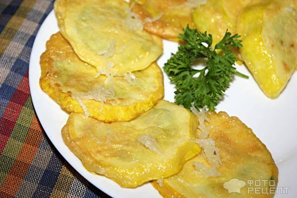 Патиссоны жареные/ рецепт с пошаговым фото