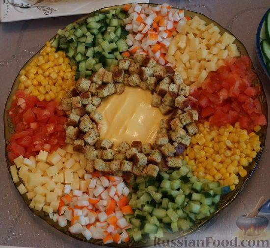 Салат из кукурузы консервированной и яиц