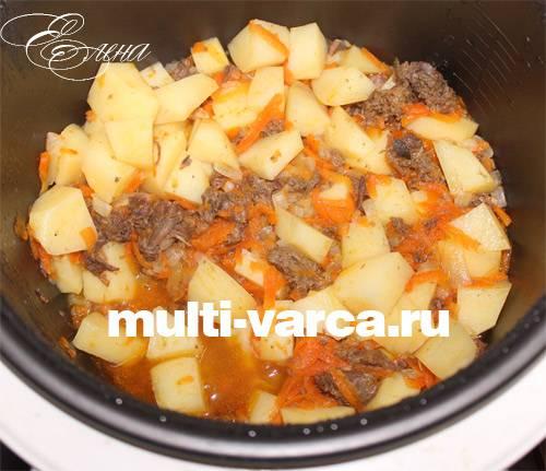Картошка с куриной тушенкой в мультиварке: по-настоящему вкусно