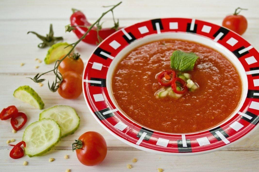 Холодный томатный суп — пальчики оближешь