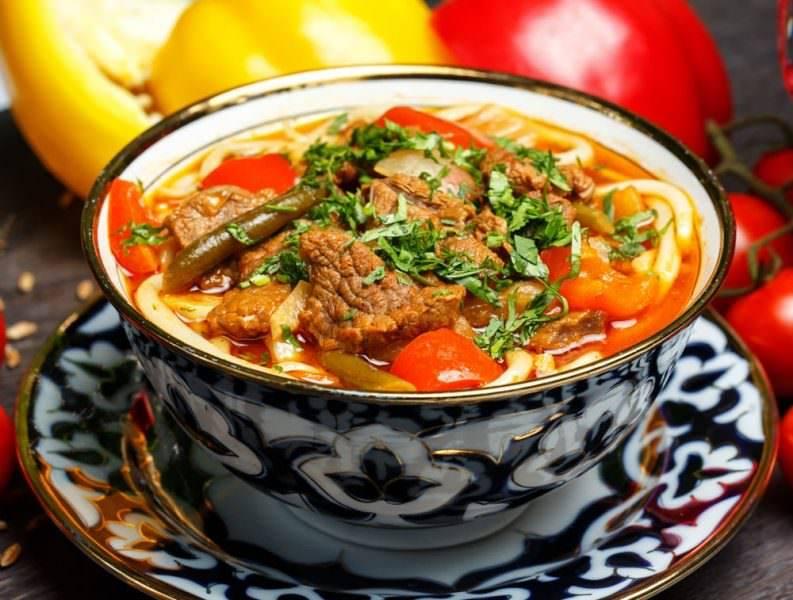 Вегетарианский лагман: варианты приготовления супа