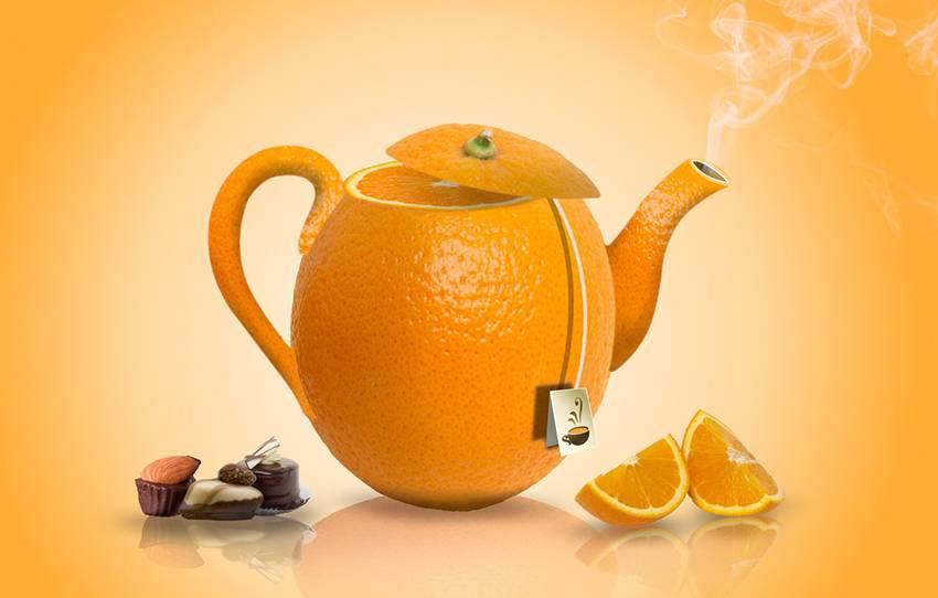 Апельсиновый чай простой домашний рецепт пошагово с фото