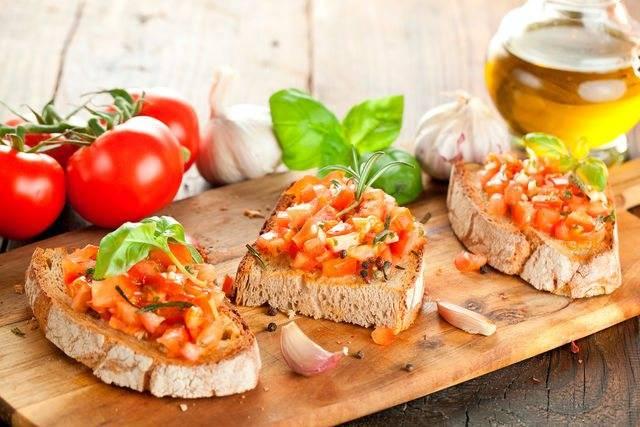Брускетта с базиликом и томатами черри | вкусно и полезно (vip)