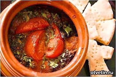 Чанахи (сhanakhi)  грузинский рецепт баранины с овощами в горшочках
