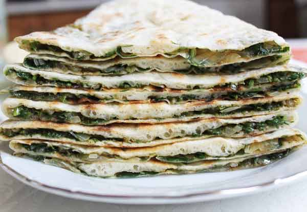 Армянский хлеб с зеленью – женгялов хац (armenian bread with herbs)