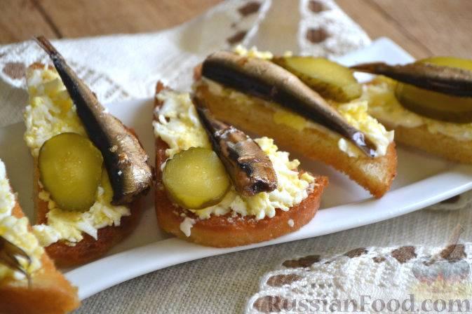 Бутерброд с шпротами