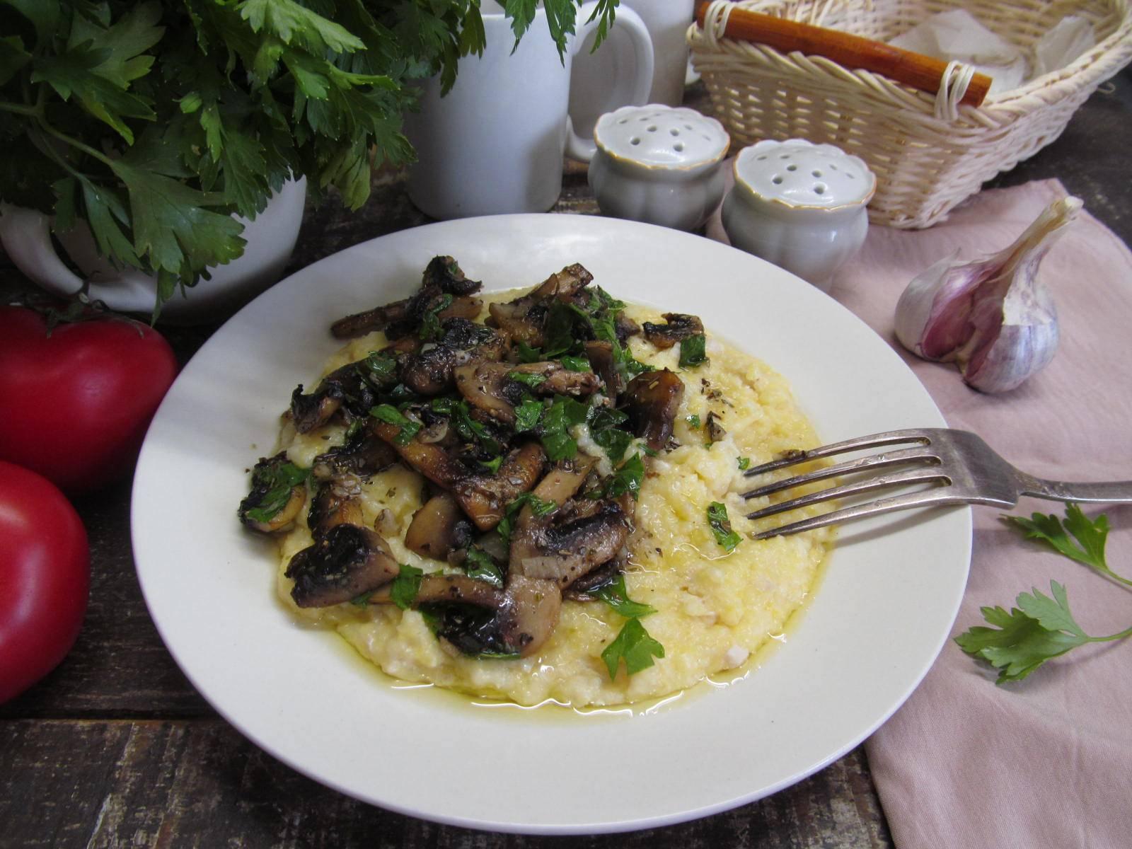 Кукурузная запеканка с грибами рецепт с фото