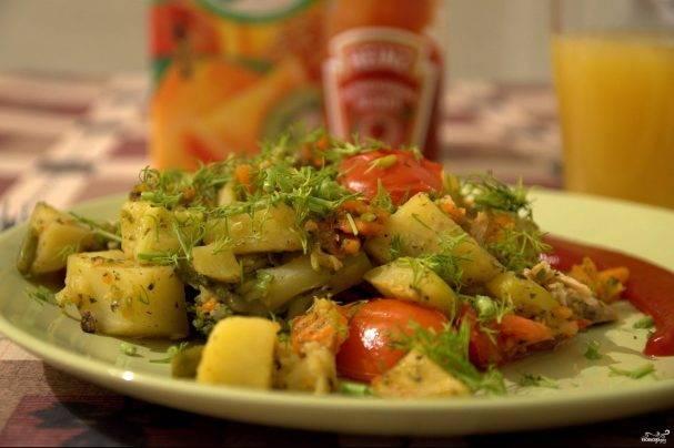 Рагу из кабачков и моркови