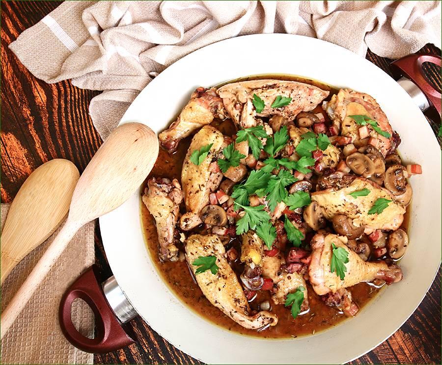 Пошаговый классический рецепт приготовления фрикасе из курицы
