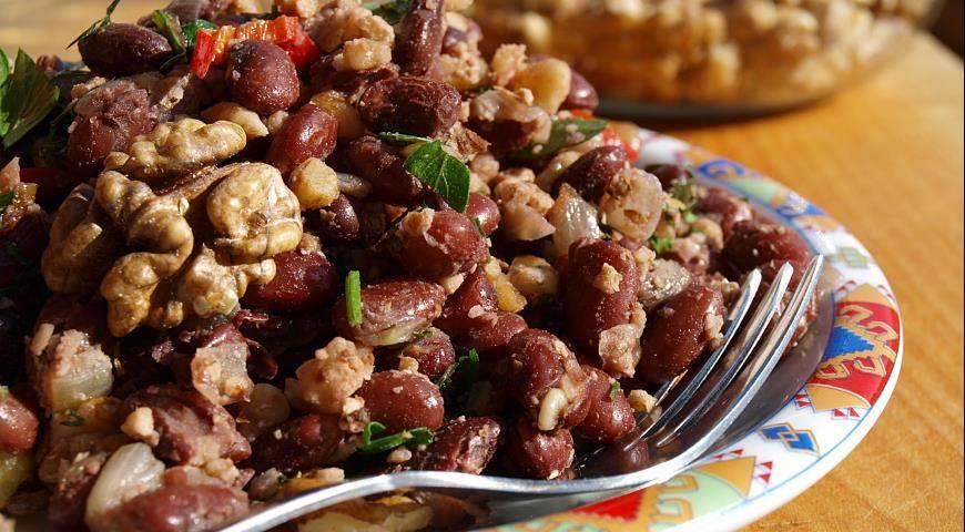 Лобио из красной фасоли по-грузински: пошаговый рецепт классический, фото и видео
