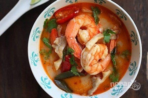 Как приготовить тайский суп том-ям в домашних условиях по пошаговому рецепту с фото