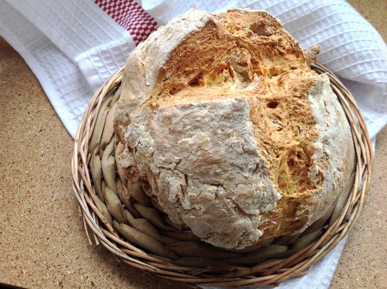 Постный содовый хлеб