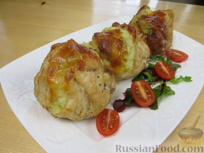 Куриные бедра с молодым картофелем