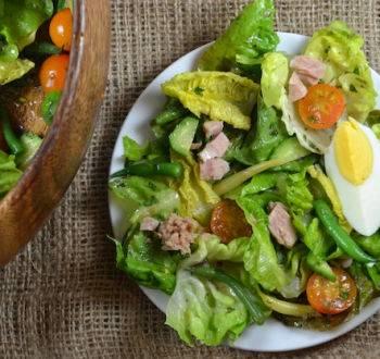 Классический французский салат нисуаз
