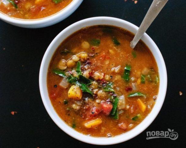 Чечевичный суп с охотничьими колбасками