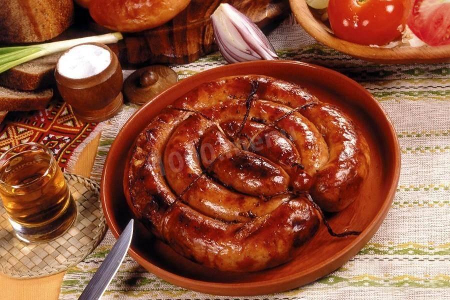 Колбаса домашняя свиная с курицей