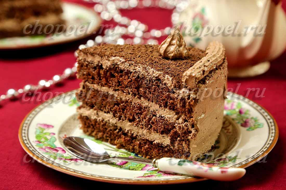 Простой и очень удачный бисквитный торт