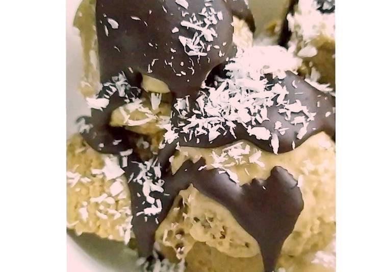 Торт-суфле шоколадно-ванильный