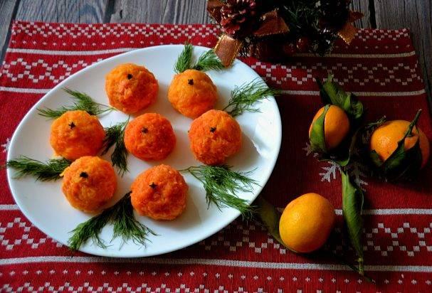 "Праздничная закуска ""мандаринки"""