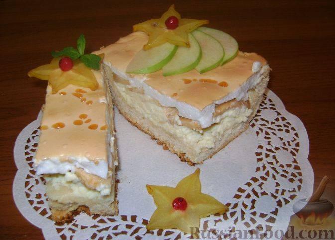 Пирог с творогом, с яблоками (9 рецептов творожно-яблочного пирога)