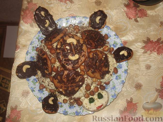 Торт «Черепаха» на чечевице