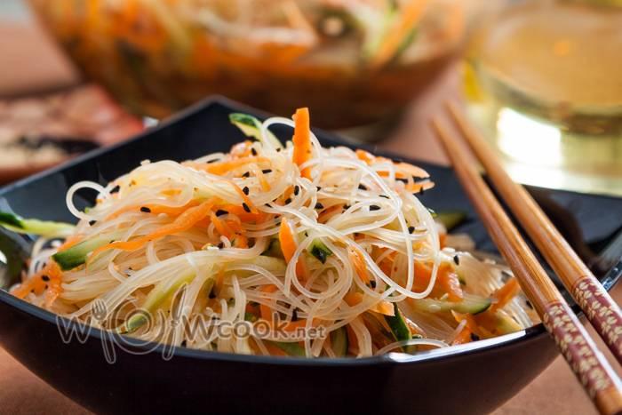 Фунчоза с овощами - вкусные рецепты горячего блюда, салата и закуски