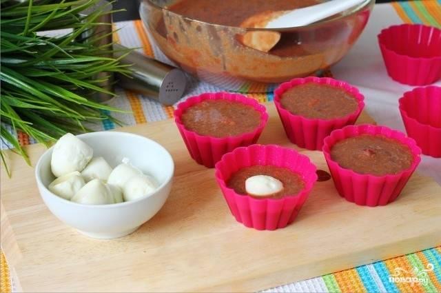 Печёночные кексы с начинкой