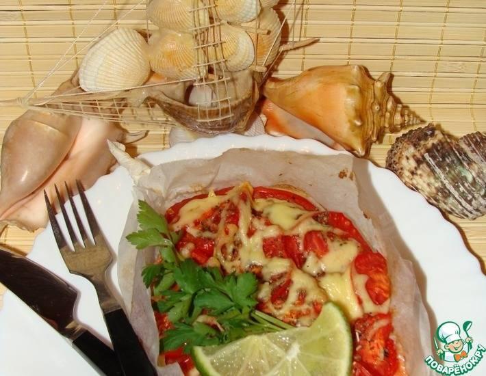 Лодочки из куриной грудки с начинкой в духовке - 12 пошаговых фото в рецепте