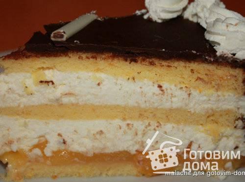 Апельсиновый бисквит для торта