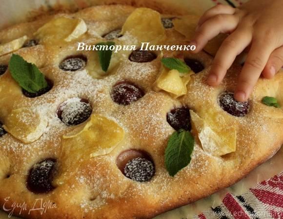 Фокачча с оливками и вялеными помидорами