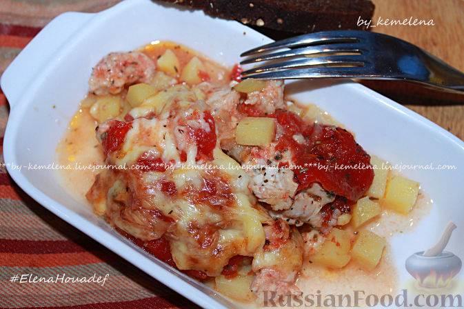 Как приготовить куриные грудки с сыром и помидорами в духовке